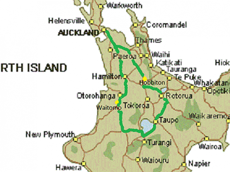 Rotorua New Zealand Map.New Zealand Self Drive Tour Rotorua Lake Taupo 5 Days