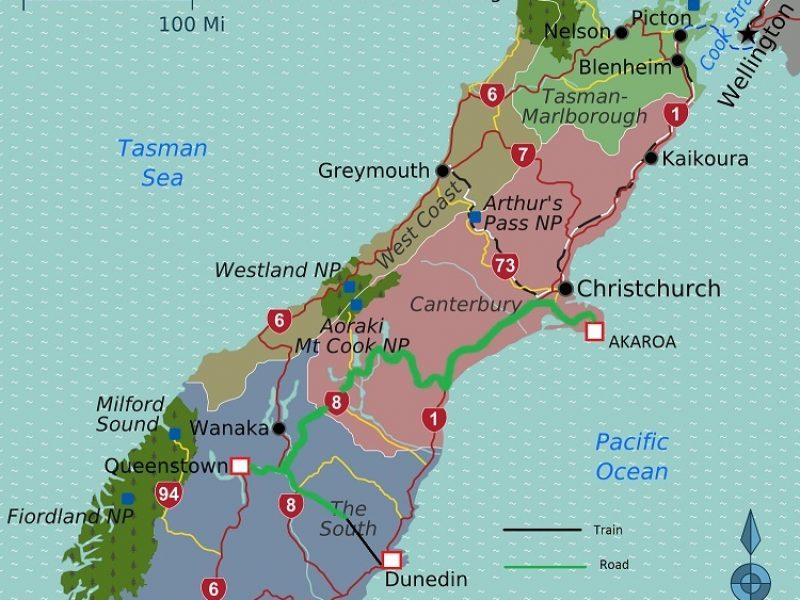Dunedin Queenstown Akaroa with Taieri Gorge Railway LT72CS