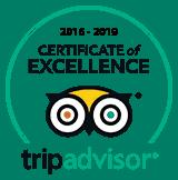 TripAdvisor Cert of Excellence